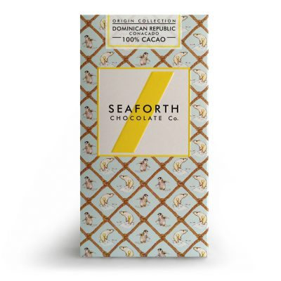 A powerful 100% cacao bar from Isle of Wight maker Seaforth
